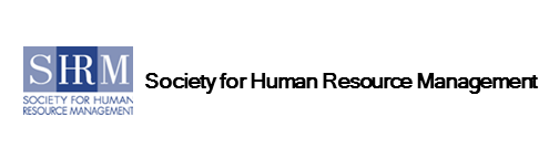 Logo for SHRM Society for Human Resource Management in employee benefits industry