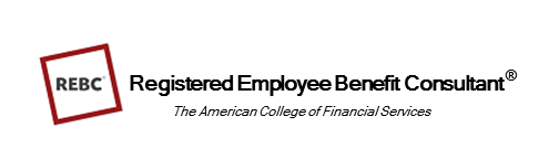 Logo for REBC Registered Employee Benefit Consutlant in employee benefits industry